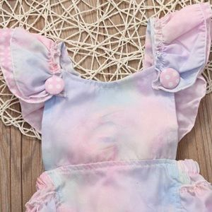 One Pieces - 🆕👧🏼Pastel frill tiered frill romper